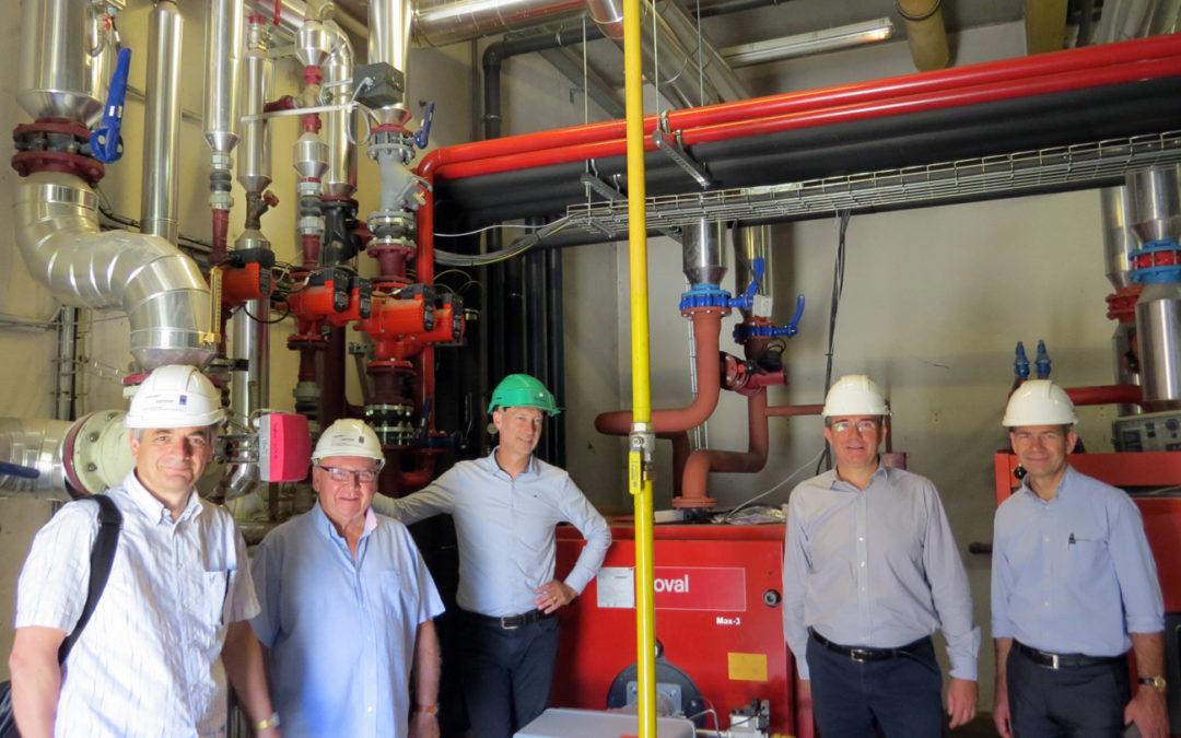 Visite du chantier des Thermes de Vals-les-Bains par le président de la CCI