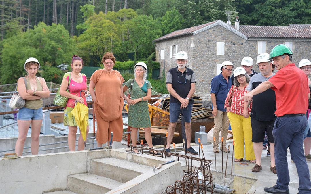 Visite du chantier des Thermes de Vals aux adhérents de l'association des commerçants